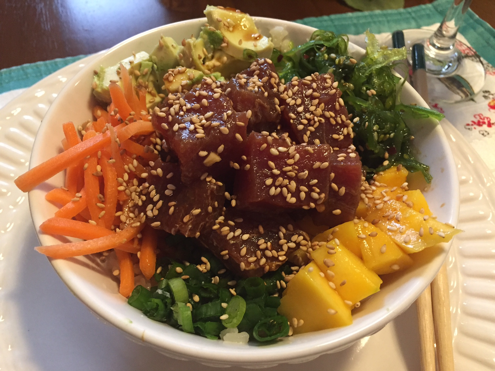 A DIY tuna poke bowl is a delicious sushi alternative