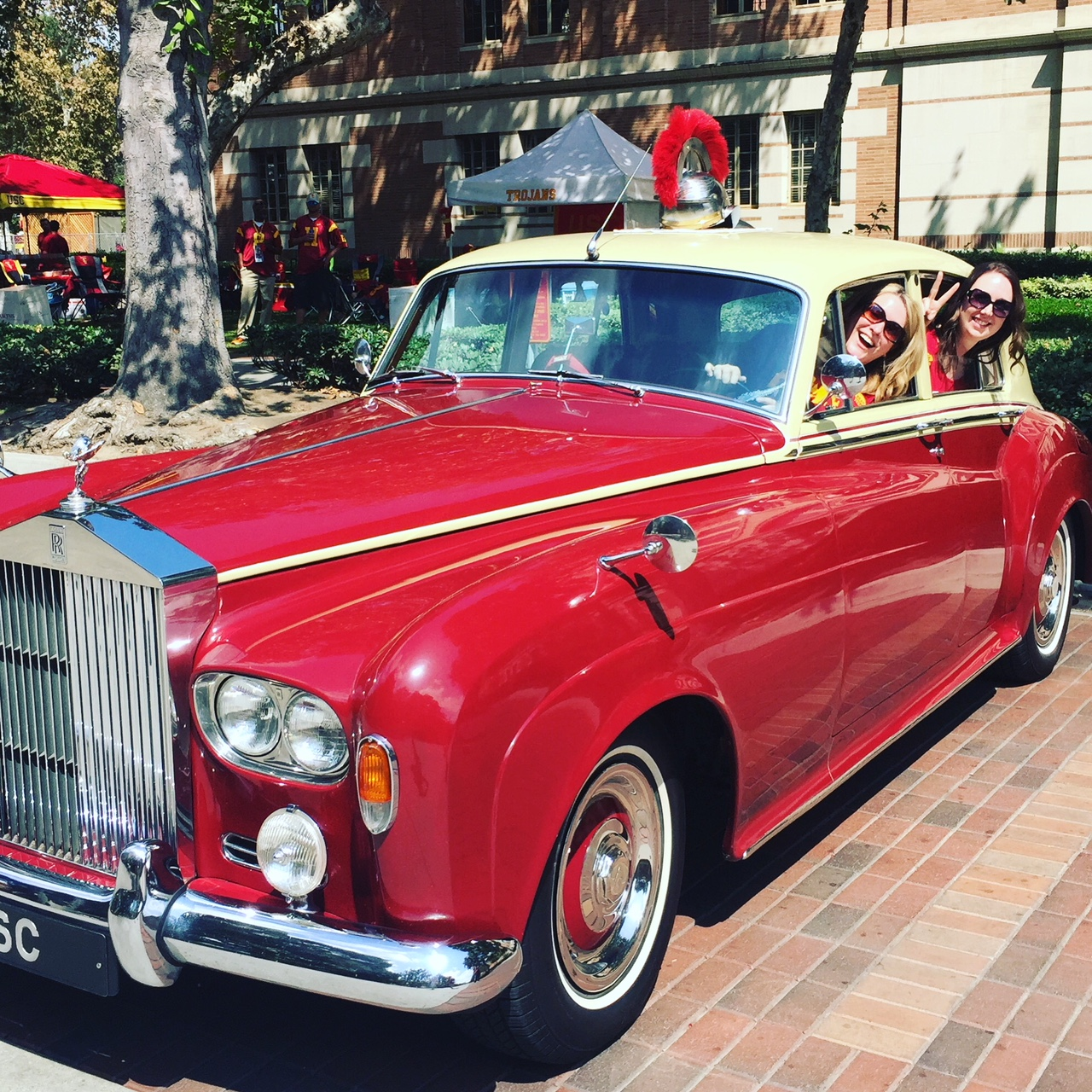 You probably can't find a vintage Rolls Royce like that at a car rental place, but you can always dream.