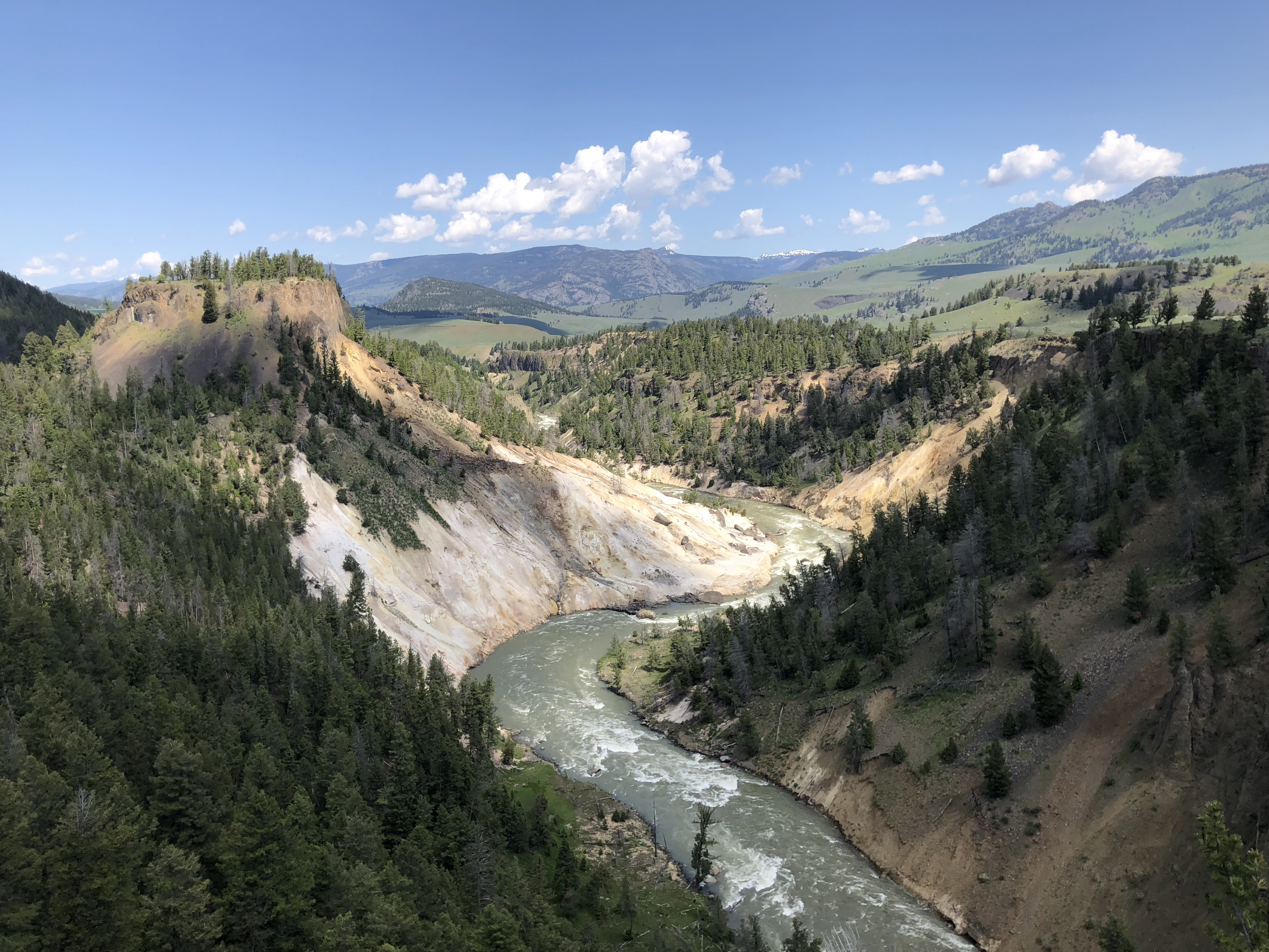 The Grand Canyon of the Yellowstone winds through the scenic park